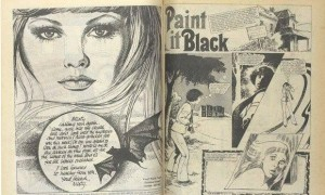 Page from Misty, the 1970s comic book of supernatural and horror stories. Photograph: British Library Board