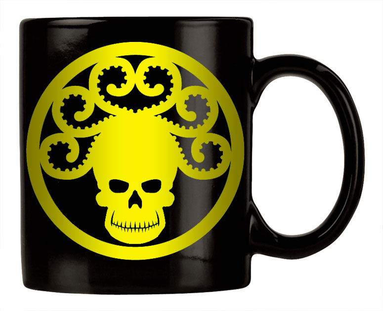 Golden Age GORGON logo mug
